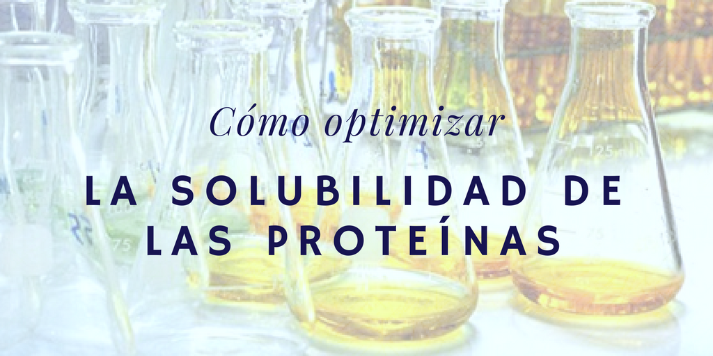 Cómo optimizar la solubilidad de las proteínas