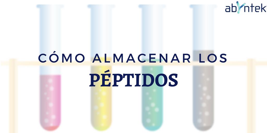 Cómo almacenar los péptidos