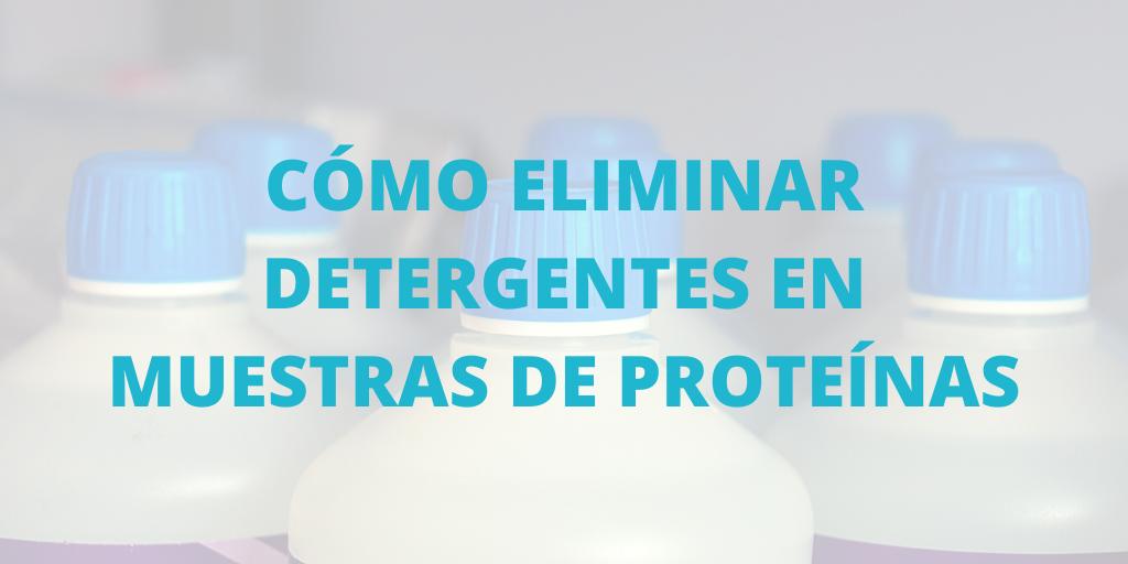 Cómo eliminar detergentes en muestras de proteínas