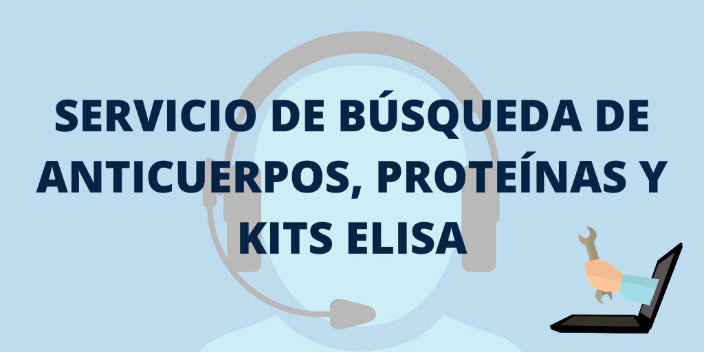 BUSCADOR DE ANTICUERPOS, PROTEÍNAS Y KITS ELISA