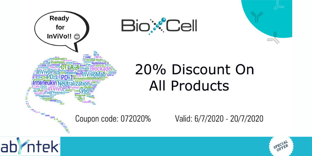 bioxcell 20% descuento Abyntek
