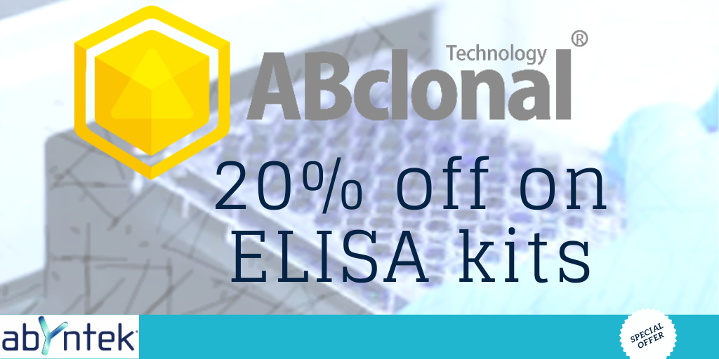 20% off on ELISA kits ABCLONAL