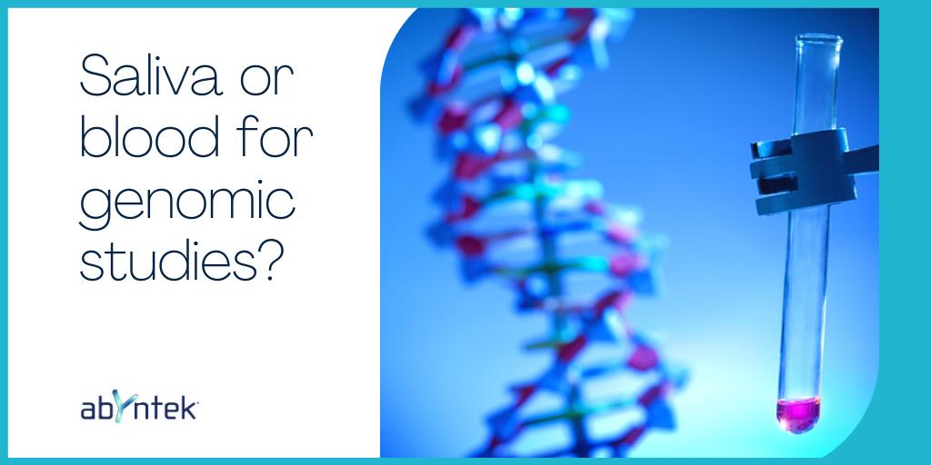 Saliva or blood for genomic studies?